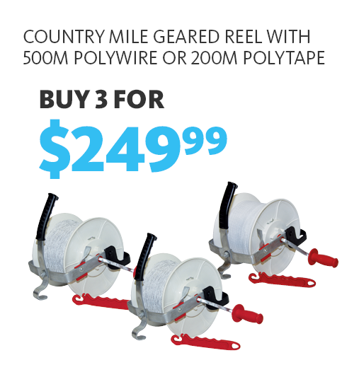Buy 3 Country Mile Geared Reels for $249.99