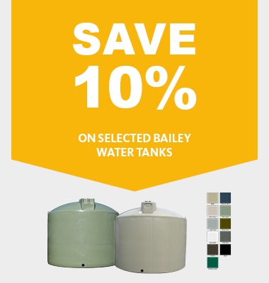 Save 10% on Bailey Water Tanks