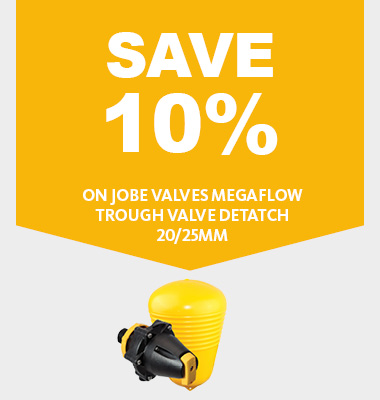 Save 10% on jobe valves megaflow trough valve detatch