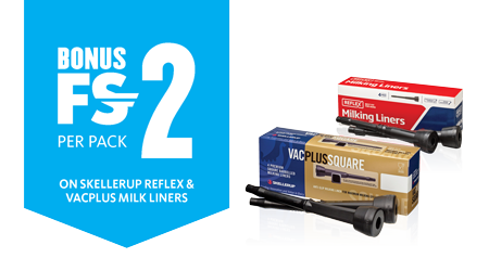 Bonus FSD on Skellerup Milking Liners