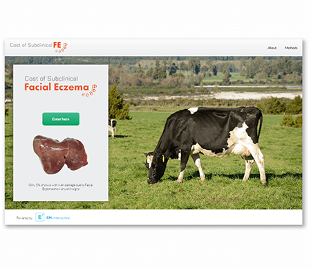 Calculate your income loss if your herd was to get facial eczema