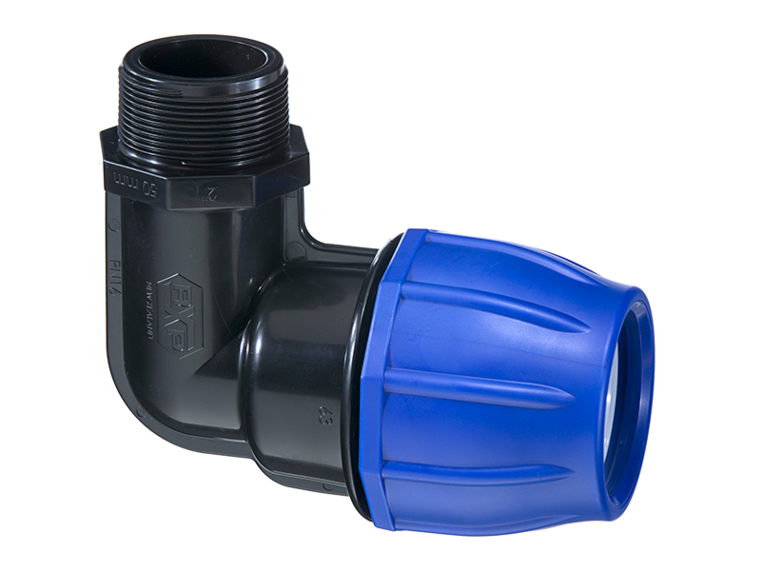 RX Plastics Metric Male Elbow Fitting 40mm | NZ Farm Source