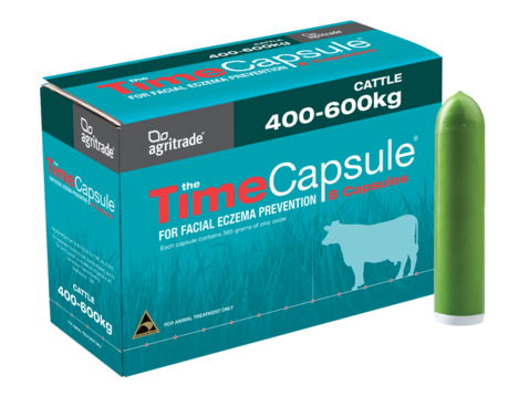 Agritrade Zinc Time Capsule For Cattle 400 600kg Nz Farm