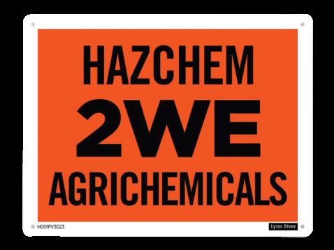 Lynn River Hazchem 2we Agrichemicals Sign Nz Farm Source