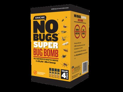 Kiwicare No Bugs Bug Bomb 4 Pack X 125gm Nz Farm Source