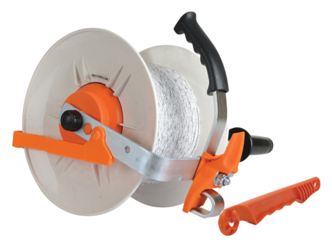 Gallagher Geared Reel With Pvc Handle And 500m Poly Wire