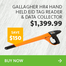 247783 gallagher hr4 hand held eid tag reader   data collector