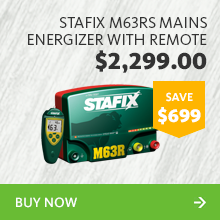 241097 stafix m63rs mains energizer with remote