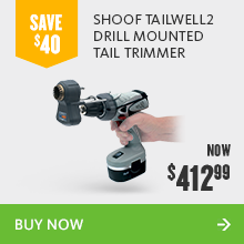 Shoof tailwell2 drill mounted tail trimmer