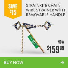 Strainrite chain wire strainer with removable handle